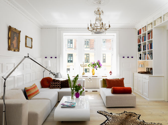 D co appartement tout blanc exemples d 39 am nagements for Decoration petit appartement moderne