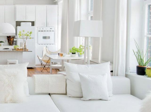 Déco appartement tout blanc - Exemples d'aménagements