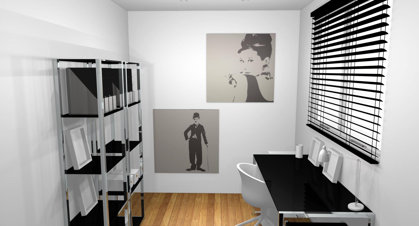 décoration bureau noir blanc