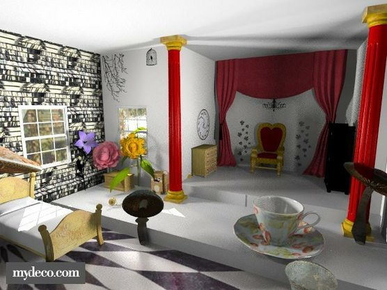 d co chambre alice au pays des merveilles. Black Bedroom Furniture Sets. Home Design Ideas