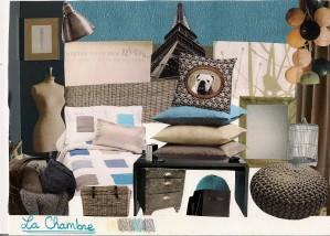 ... Modèle Déco Chambre Bleu Et Taupe ...