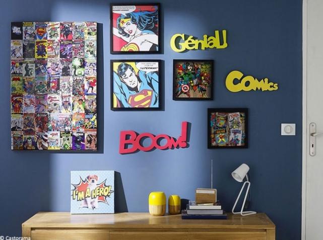Déco chambre comics  Exemples d'aménagements
