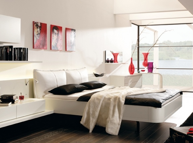 d co chambre contemporaine exemples d 39 am nagements. Black Bedroom Furniture Sets. Home Design Ideas