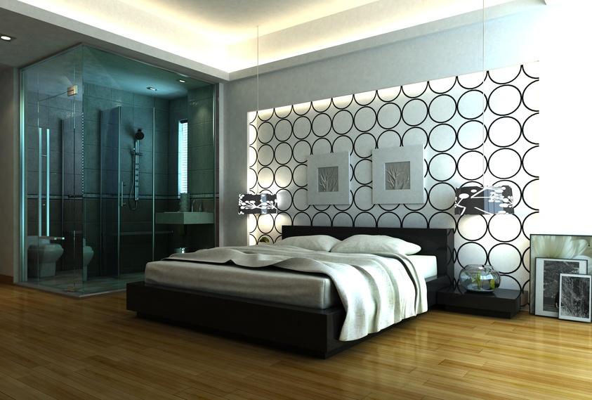 d co chambre contemporaine exemples d 39 am nagements. Black Bedroom Furniture Sets. Home Design Ideas