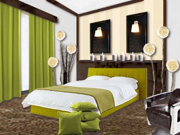 Emejing Decoration Chambre Vert Et Marron Photos - Matkin.info ...