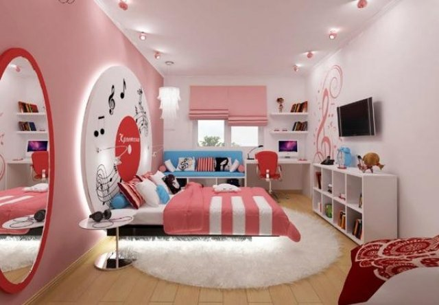 d co chambre d 39 ado fille exemples d 39 am nagements. Black Bedroom Furniture Sets. Home Design Ideas