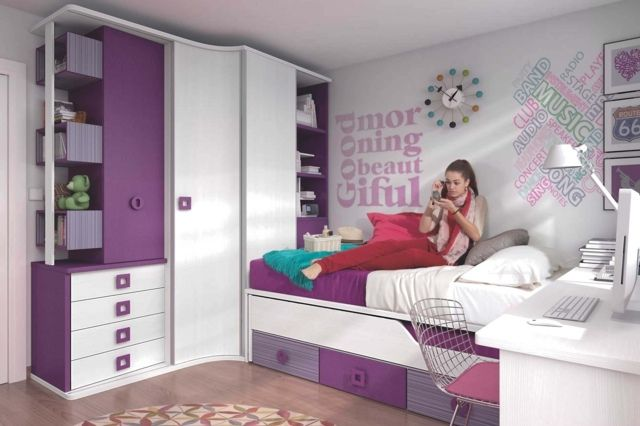 D co chambre d 39 ado fille exemples d 39 am nagements for Chambre d ado fille deco