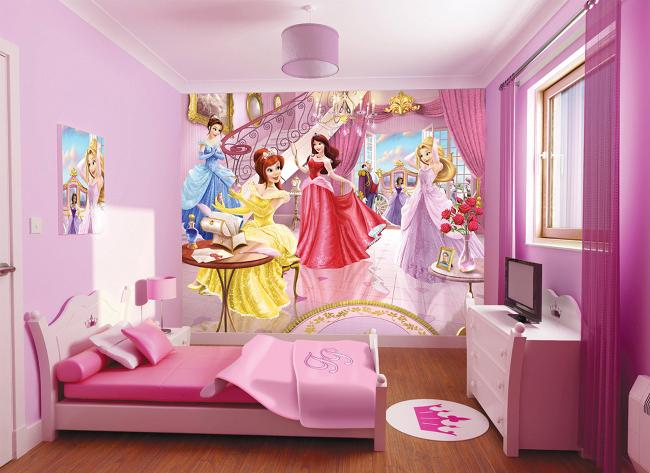 Déco Chambre Disney Princesse Exemples Daménagements - Disney princesse chambre idees de decoration