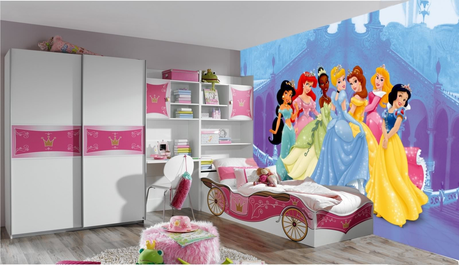 D co chambre disney princesse exemples d 39 am nagements for Chambre princesse disney
