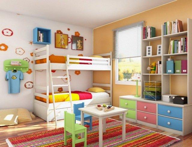 Déco chambre double fille garcon - Exemples d\'aménagements