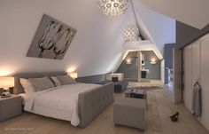 Déco chambre en comble - Exemples d\'aménagements
