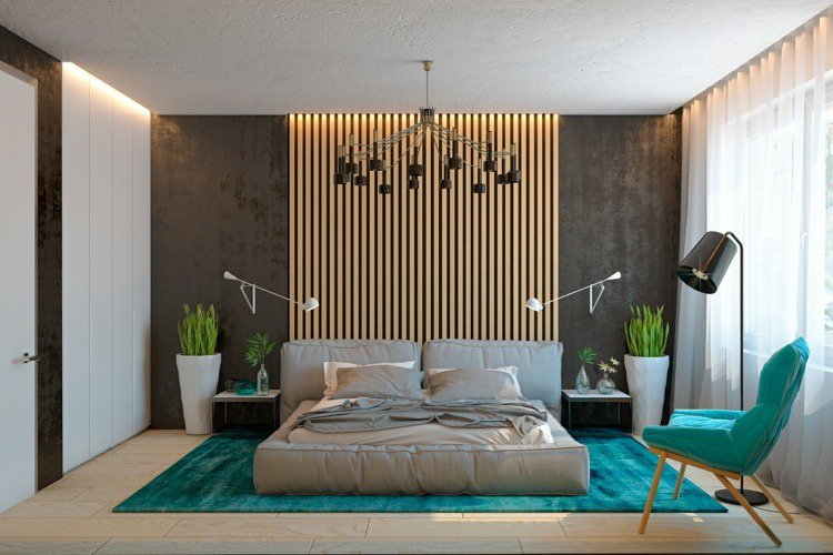 lambris bois mur chambre. Black Bedroom Furniture Sets. Home Design Ideas