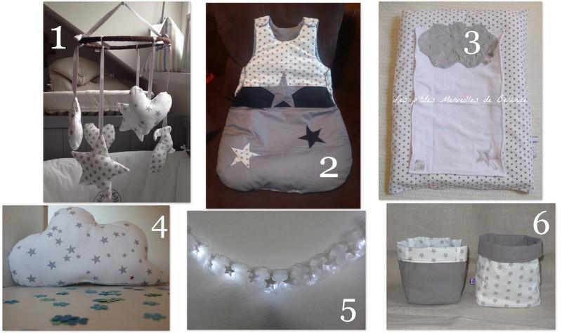 D co chambre etoiles for Guirlande lumineuse pour chambre bebe