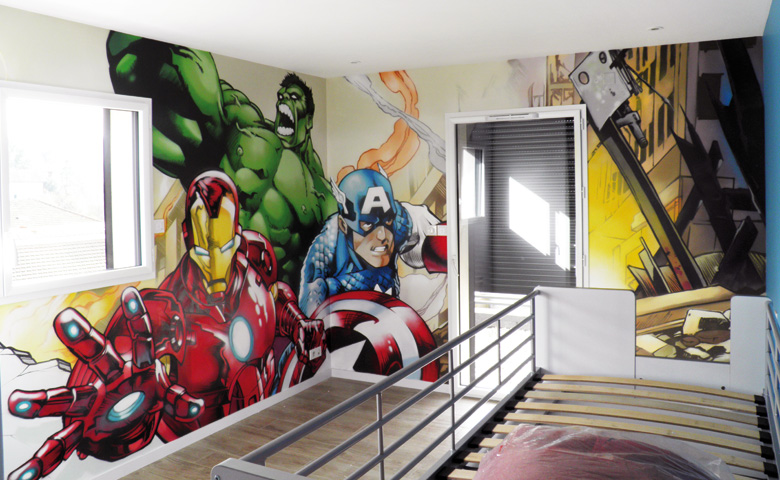 D co chambre garcon iron man exemples d 39 am nagements - Decoration murale chambre ado ...