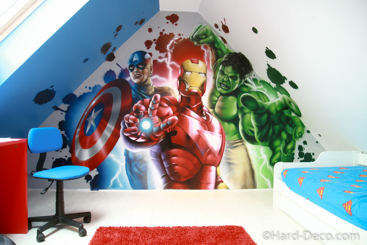 D co chambre garcon iron man exemples d 39 am nagements for Maison d iron man