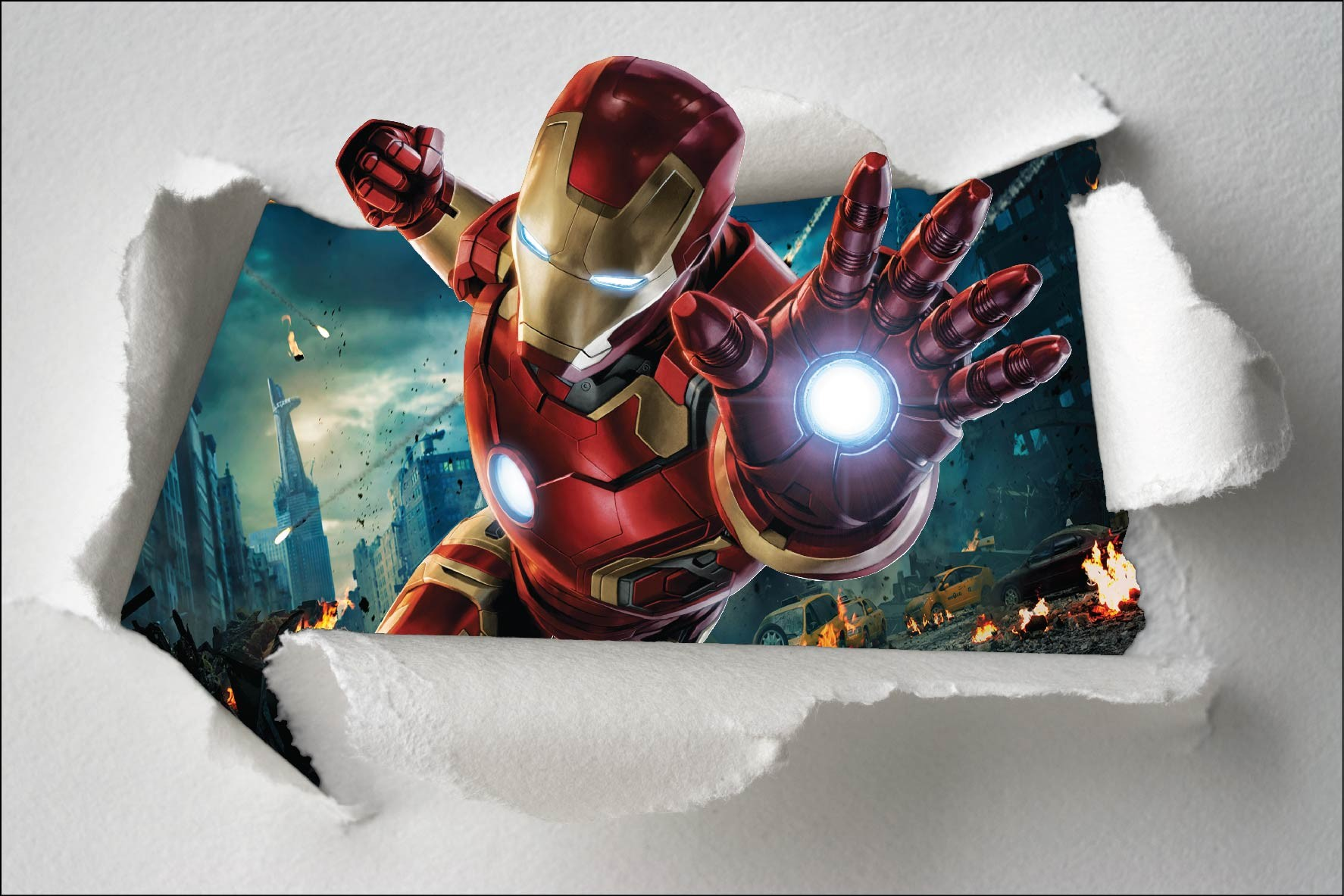 D co chambre garcon iron man exemples d 39 am nagements - Deco chambre garcon super heros ...