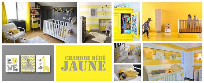 Decoration jaune de chambre de bebe solutions pour la for Decoration maison jaune