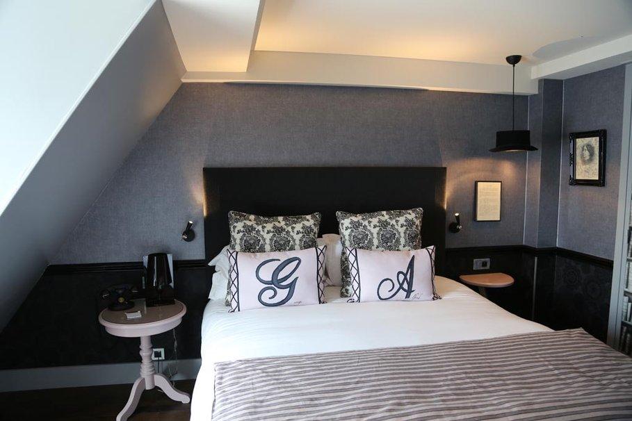 D co chambre gris et blanc exemples d 39 am nagements - Deco chambre gris blanc ...