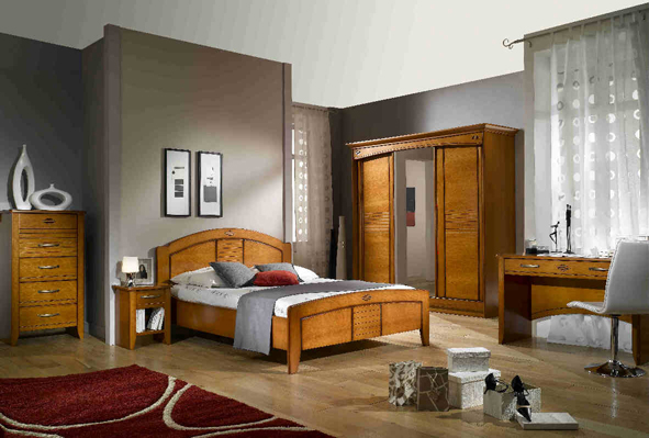 D co chambre meuble merisier exemples d 39 am nagements for Decoration d une chambre adulte