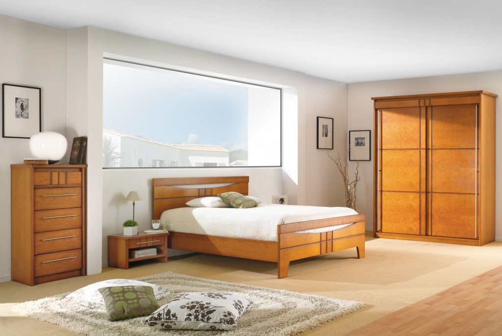 D co chambre meuble merisier exemples d 39 am nagements for Chambre a coucher simple et moderne