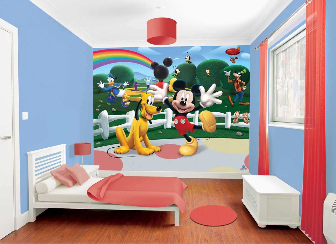 D coration chambre mickey mouse for Habitaciones infantiles disney