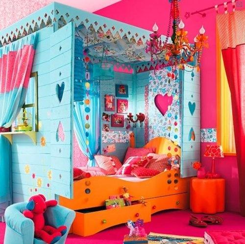 Emejing Chambre Multicolore Fille Contemporary - Design Trends 2017 ...
