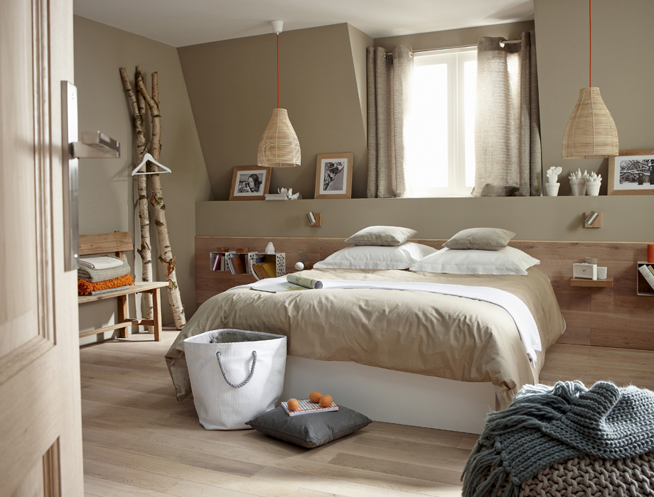 D co chambre nature exemples d 39 am nagements - Idee deco chambre cocooning ...
