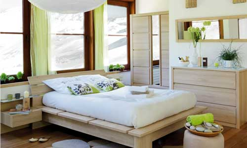 d co chambre nature exemples d 39 am nagements. Black Bedroom Furniture Sets. Home Design Ideas