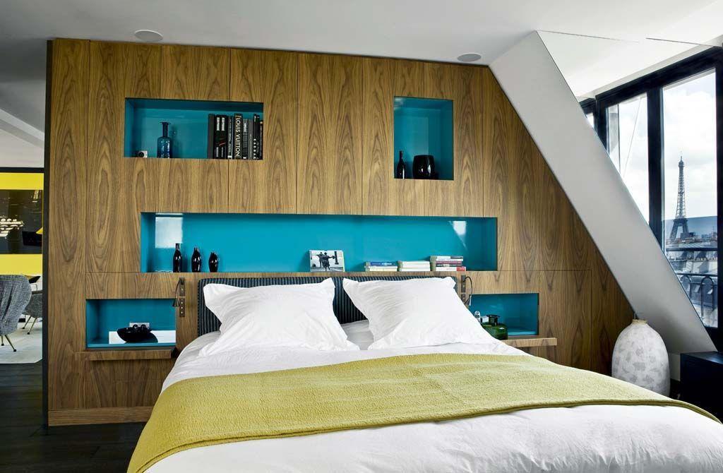D co chambre niche exemples d 39 am nagements - Tete de lit avec niche ...