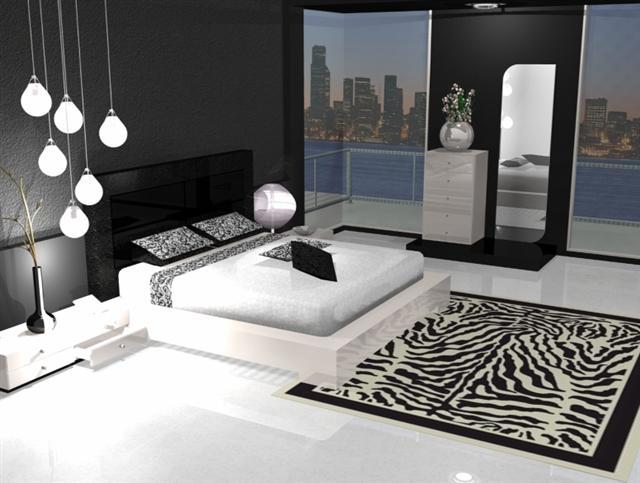 D co chambre noir et argent exemples d 39 am nagements for Decoration chambre noire