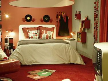 Déco chambre orange marron - Exemples d\'aménagements