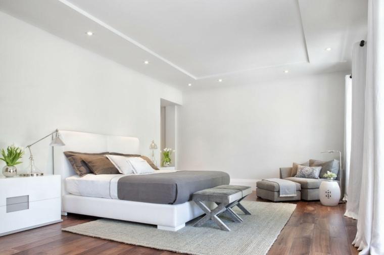 Meuble chambre blanc for Deco chambre parentale