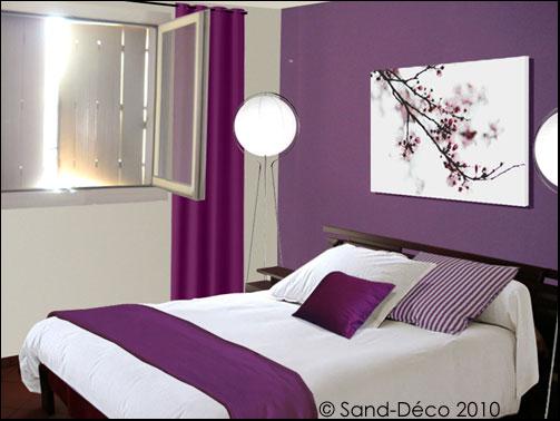 Emejing deco chambre parme et blanc pictures design for Rideau parme chambre fille