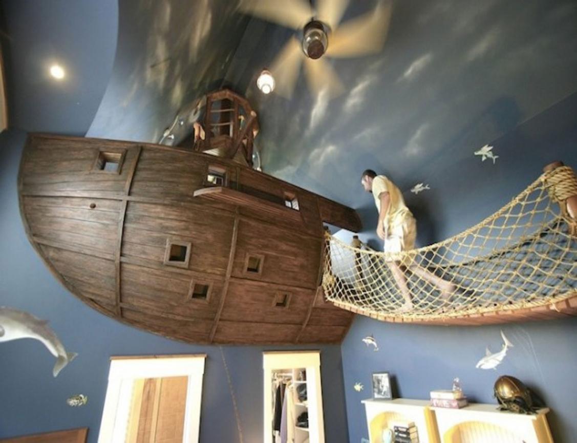 d co chambre pirate a faire soi meme exemples d 39 am nagements. Black Bedroom Furniture Sets. Home Design Ideas