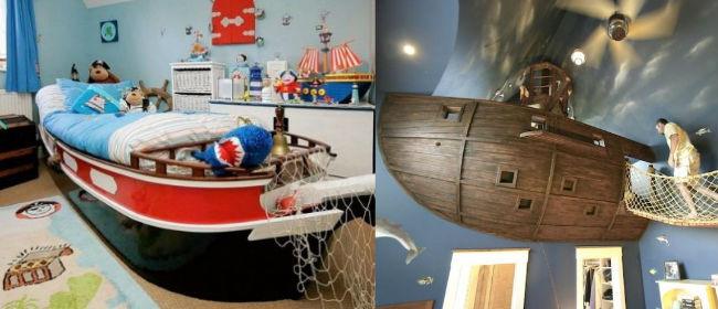 D co chambre pirate a faire soi meme exemples d 39 am nagements - Decoration chambre bebe garcon faire soi meme ...