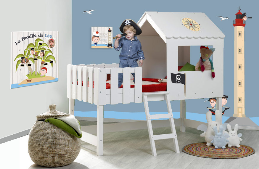 D co chambre pirate a faire soi meme exemples d 39 am nagements - Idee deco chambre a faire soi meme ...