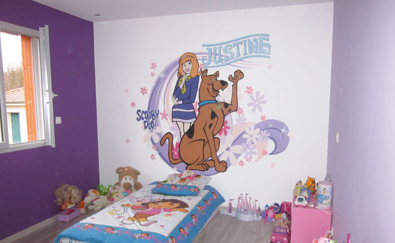 D co chambre scooby doo for Glace murale decorative