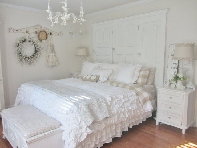 d co chambre shabby chic exemples d 39 am nagements. Black Bedroom Furniture Sets. Home Design Ideas
