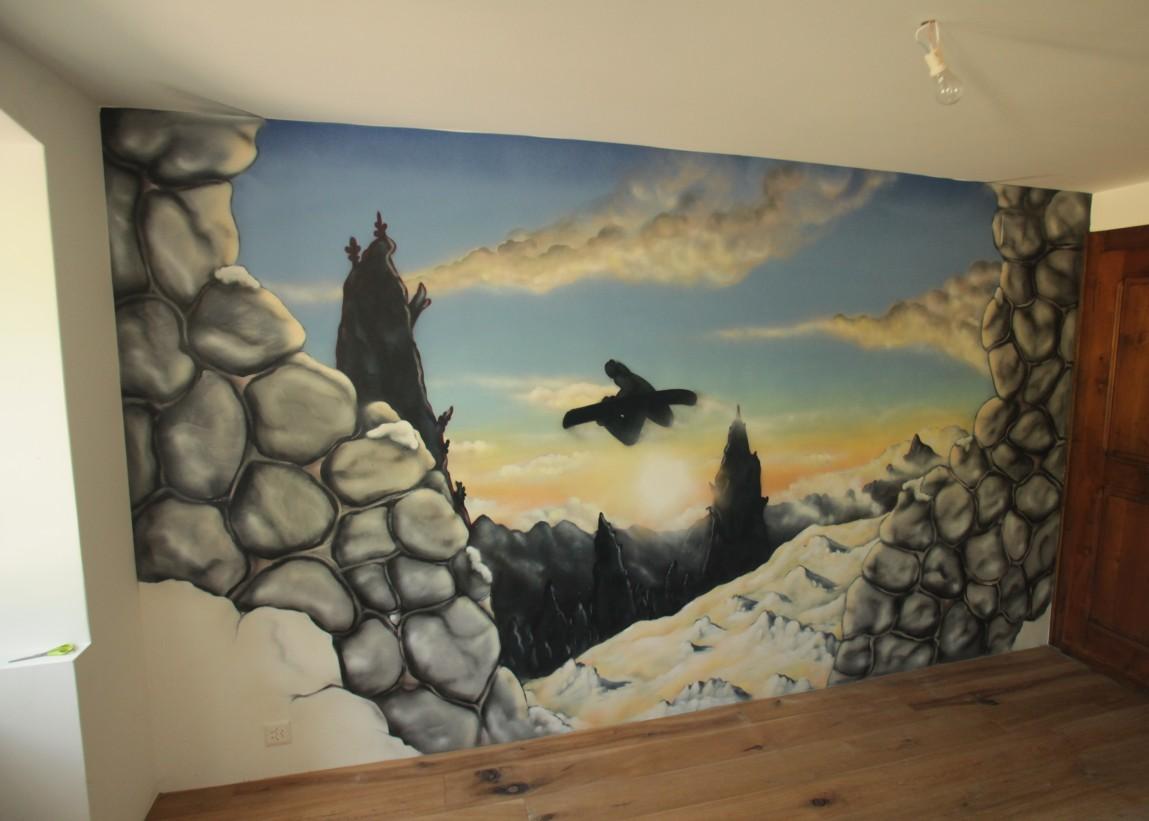décoration chambre snowboard
