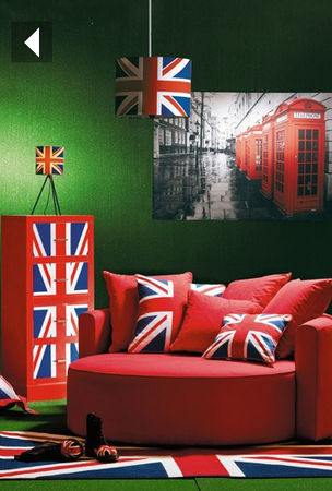 d co chambre drapeau anglais. Black Bedroom Furniture Sets. Home Design Ideas