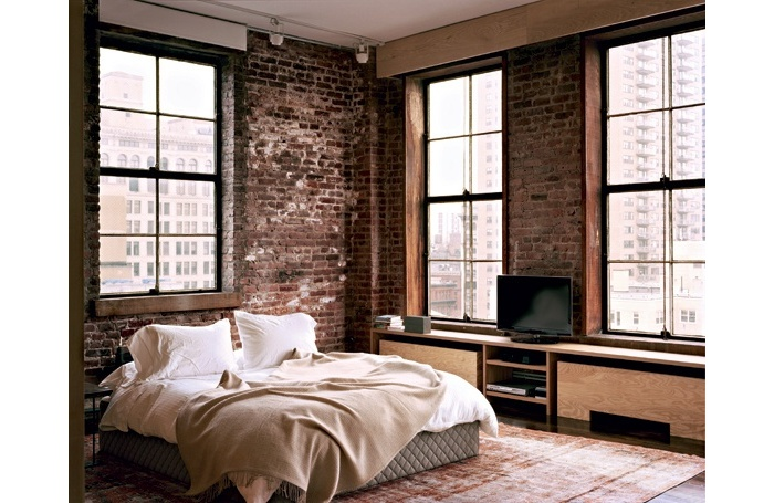 d co chambre style loft exemples d 39 am nagements. Black Bedroom Furniture Sets. Home Design Ideas