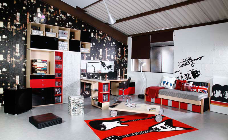 d co chambre theme london exemples d 39 am nagements. Black Bedroom Furniture Sets. Home Design Ideas