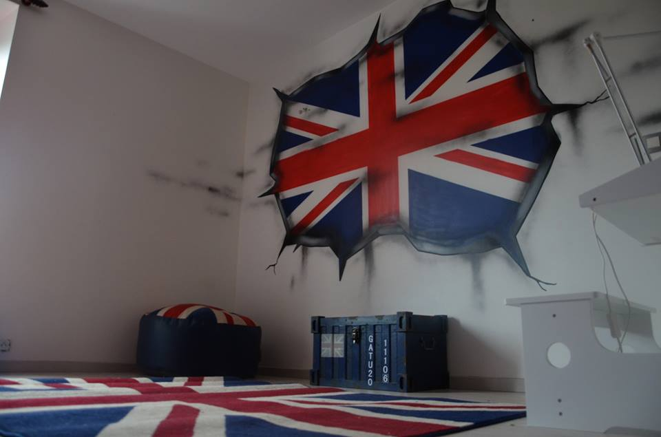 D co chambre theme london exemples d 39 am nagements - Decoration chambre london ...