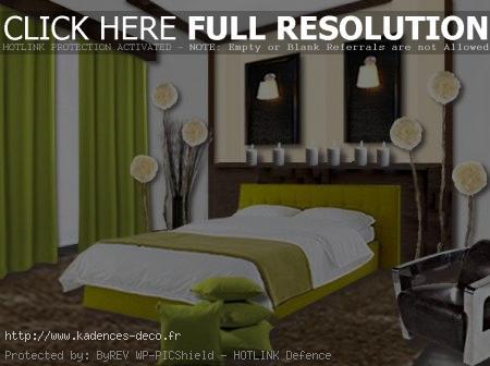 Déco Chambre Vert - Exemples D'Aménagements