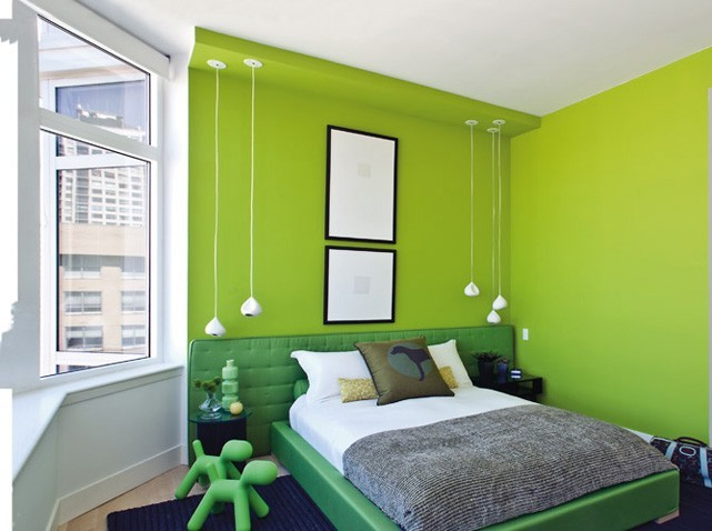 d co chambre vert exemples d 39 am nagements. Black Bedroom Furniture Sets. Home Design Ideas