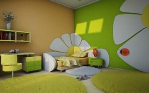 Déco chambre vert et jaune - Exemples d\'aménagements