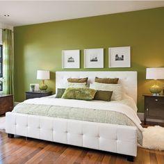 Déco chambre vert olive - Exemples d\'aménagements
