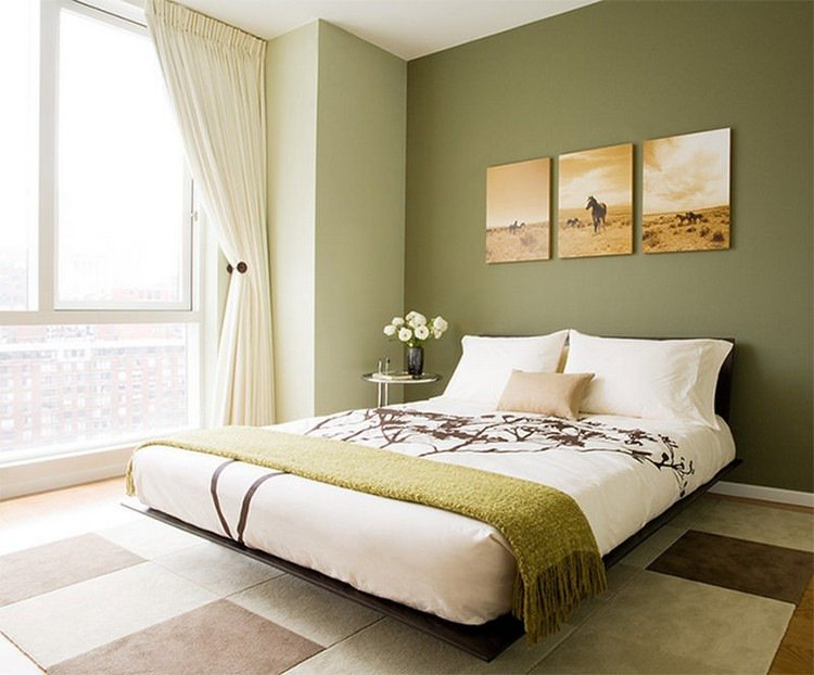 Chambre Vert Olive
