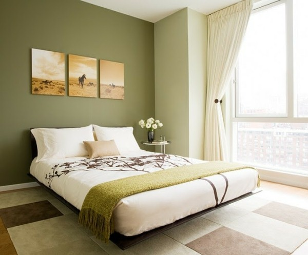 d co chambre vert olive exemples d 39 am nagements. Black Bedroom Furniture Sets. Home Design Ideas