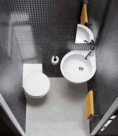 D co coin wc exemples d 39 am nagements for Wc petit espace renove